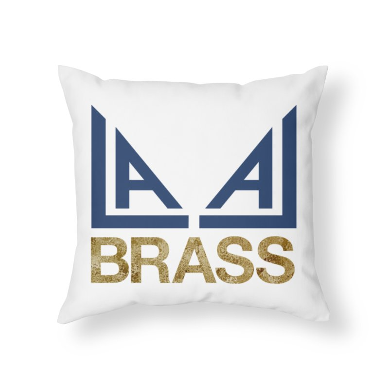 LALA Brass Home Throw Pillow by LALA Brass Merch Shop