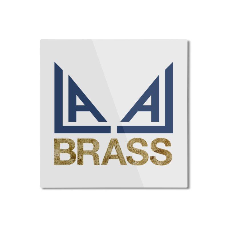 LALA Brass Home Mounted Aluminum Print by LALA Brass Merch Shop