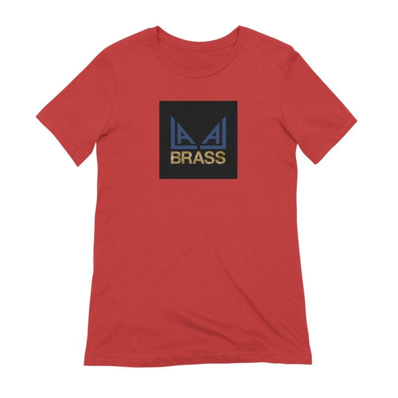LALA Brass black Women's Extra Soft T-Shirt by LALA Brass Merch Shop