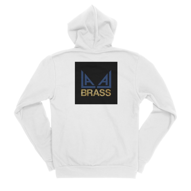 LALA Brass black Men's Sponge Fleece Zip-Up Hoody by LALA Brass Merch Shop