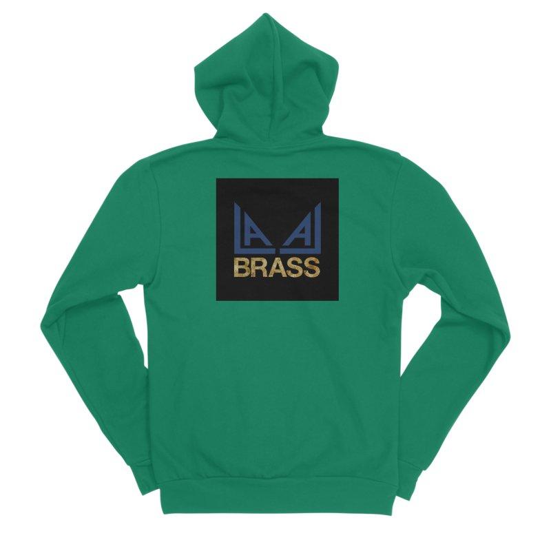 LALA Brass black Men's Sponge Fleece Zip-Up Hoody by LALA Brass Merch Shop