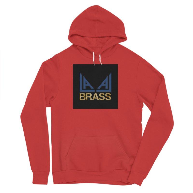 LALA Brass black Women's Sponge Fleece Pullover Hoody by LALA Brass Merch Shop