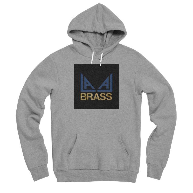 LALA Brass black Men's Sponge Fleece Pullover Hoody by LALA Brass Merch Shop