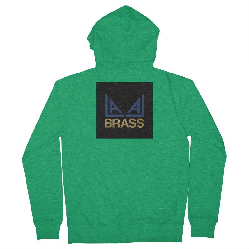 LALA Brass black Men's Zip-Up Hoody by LALA Brass Merch Shop