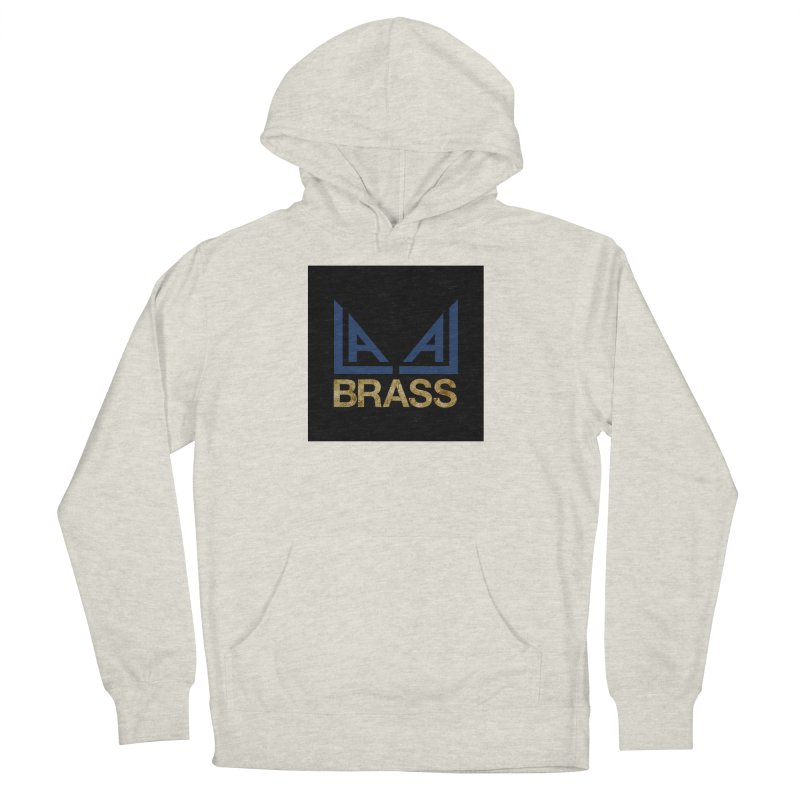 LALA Brass black Women's French Terry Pullover Hoody by LALA Brass Merch Shop