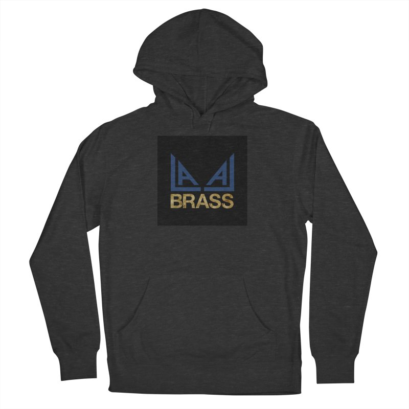 LALA Brass black Men's French Terry Pullover Hoody by LALA Brass Merch Shop
