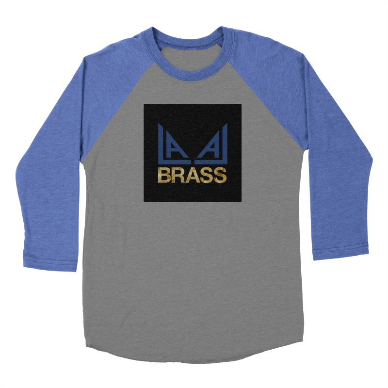 LALA Brass black Men's Baseball Triblend Longsleeve T-Shirt by LALA Brass Merch Shop