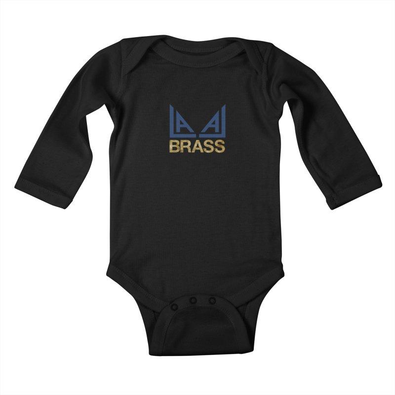 LALA Brass black Kids Baby Longsleeve Bodysuit by LALA Brass Merch Shop
