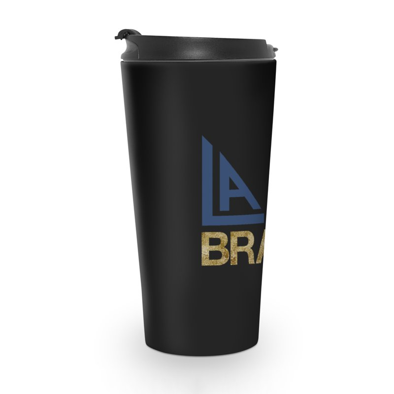 LALA Brass black in Travel Mug by LALA Brass Merch Shop