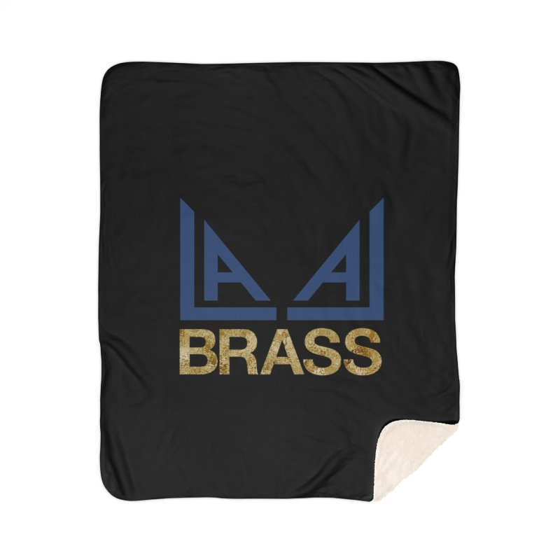 LALA Brass black Home Sherpa Blanket Blanket by LALA Brass Merch Shop