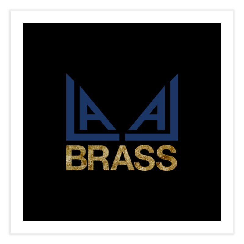 LALA Brass black Home Fine Art Print by LALA Brass Merch Shop