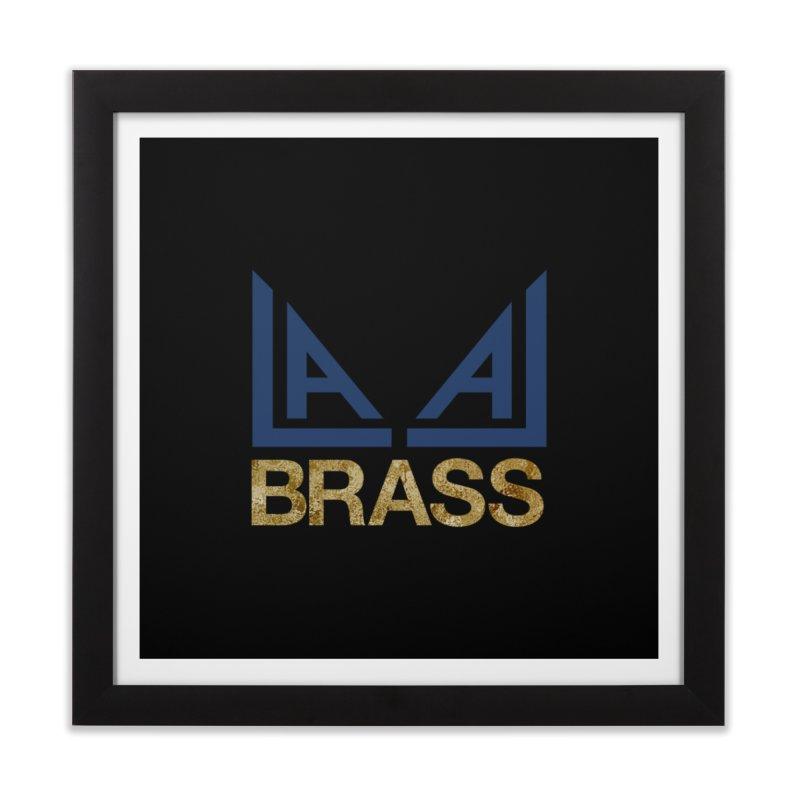 LALA Brass black Home Framed Fine Art Print by LALA Brass Merch Shop