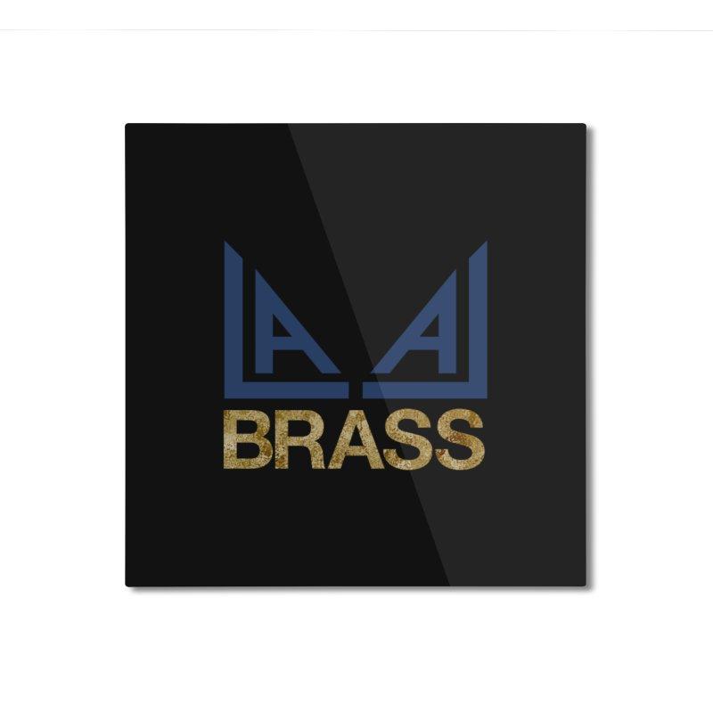 LALA Brass black Home Mounted Aluminum Print by LALA Brass Merch Shop
