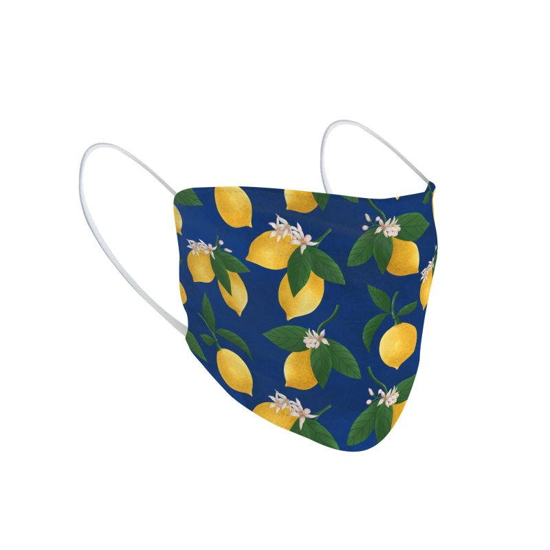 Lemony Fresh in Blue Accessories Face Mask by La Lilu