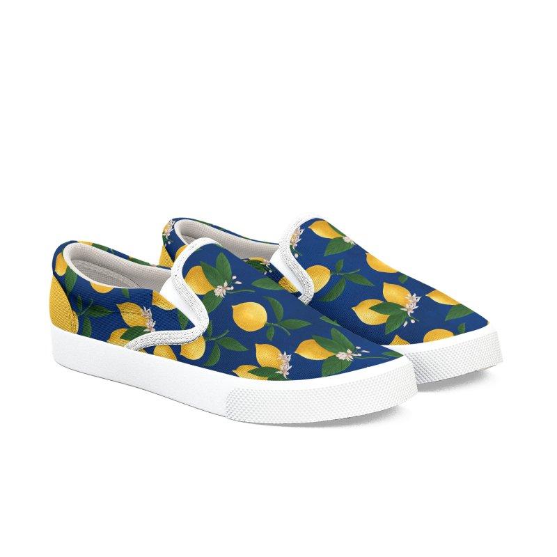 Lemony Fresh in Blue Women's Shoes by La Lilu