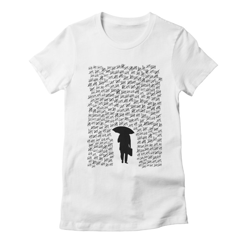 Rainy Days Women's Fitted T-Shirt by Lamalab