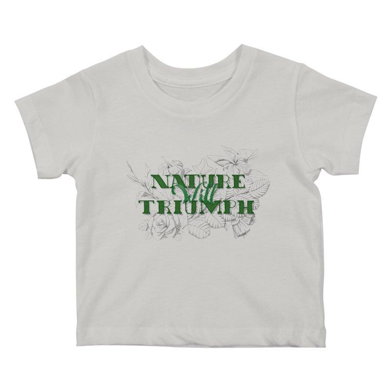 Nature will triumph Kids Baby T-Shirt by Lamalab