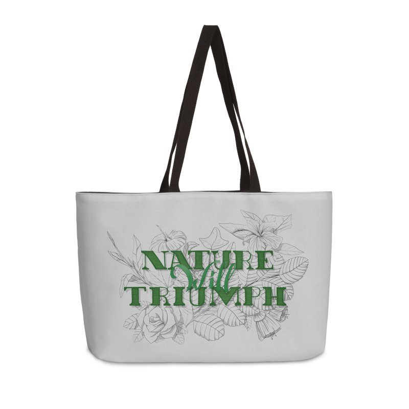 Nature will triumph in Weekender Bag by Lamalab