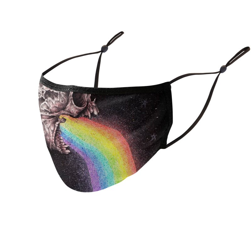 Nocturnal Rainbows Accessories Face Mask by The Art of Tyler Lamph