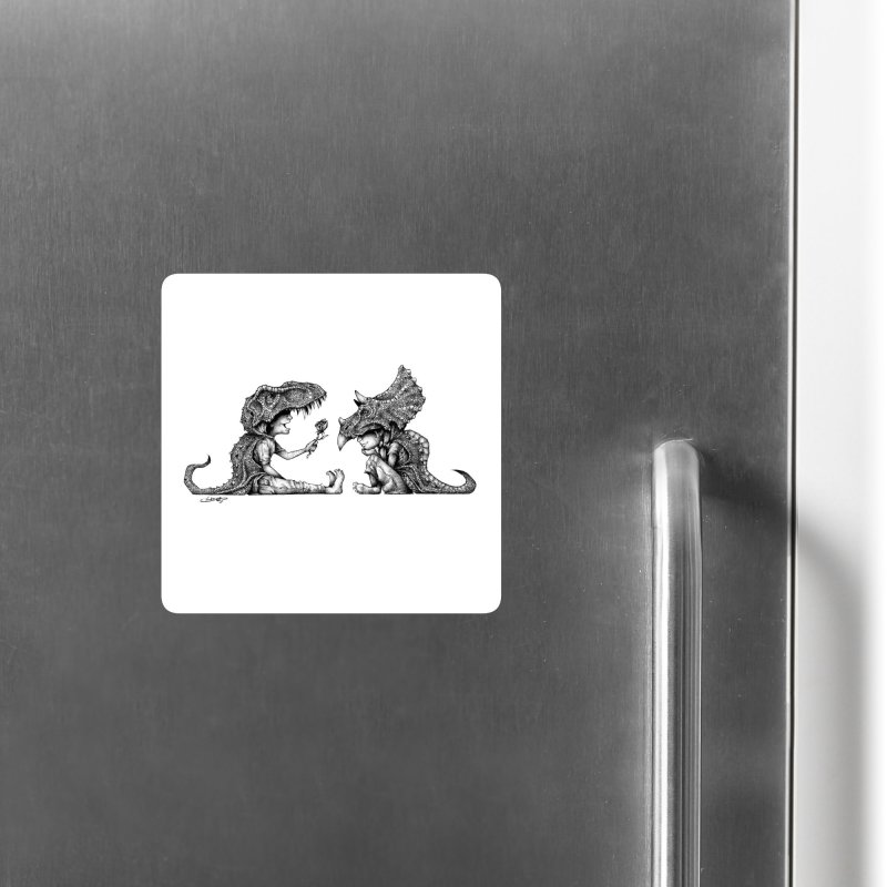 Without You, I'm A Tyrannosaurus Wreck Accessories Magnet by The Art of Tyler Lamph