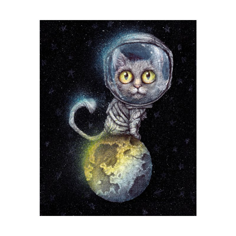 Out Of This World Pussy Accessories Sticker by The Art of Tyler Lamph