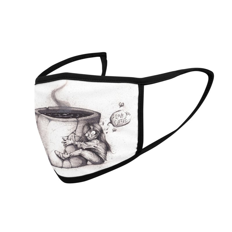 I Love You, Coffee Accessories Face Mask by The Art of Tyler Lamph