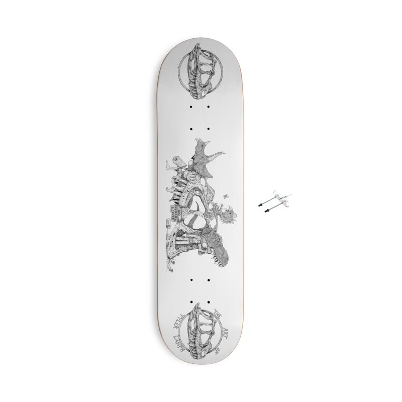 No Humans Allowed Accessories Skateboard by The Art of Tyler Lamph