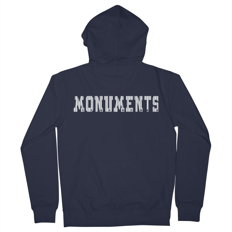 Monuments Men's French Terry Zip-Up Hoody by Lance Lionetti's Artist Shop