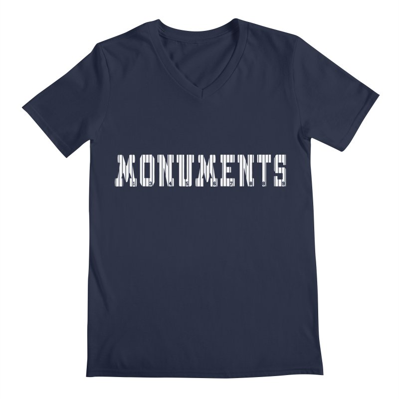Monuments Men's Regular V-Neck by Lance Lionetti's Artist Shop