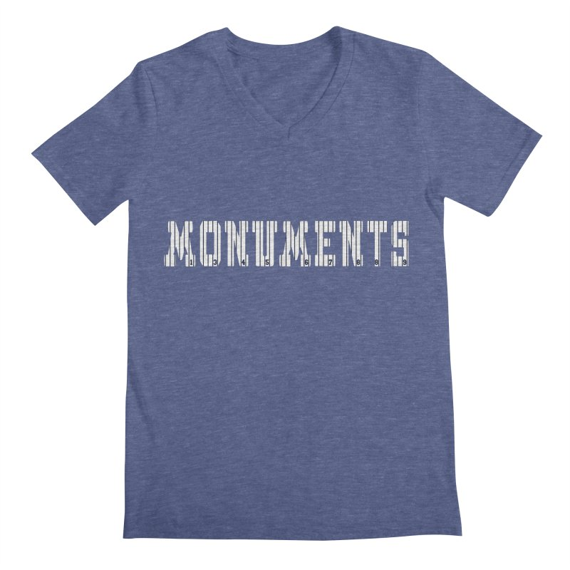 Monuments Men's Regular V-Neck by Lance Lionetti's Artist Shop