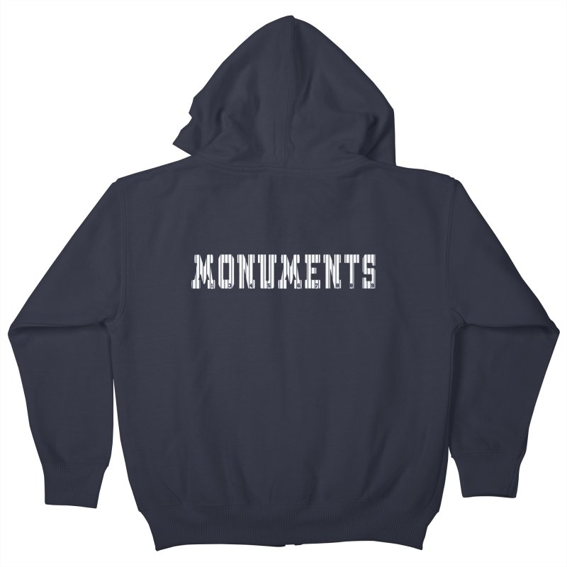 Monuments Kids Zip-Up Hoody by Lance Lionetti's Artist Shop