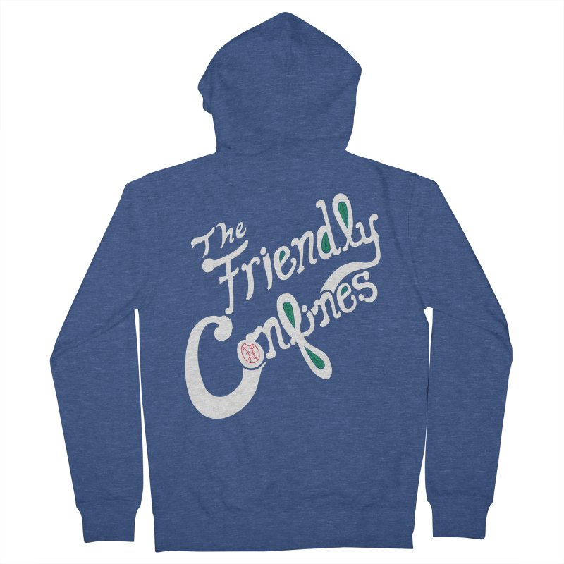 The Friendly Confines Men's Zip-Up Hoody by Lance Lionetti's Artist Shop