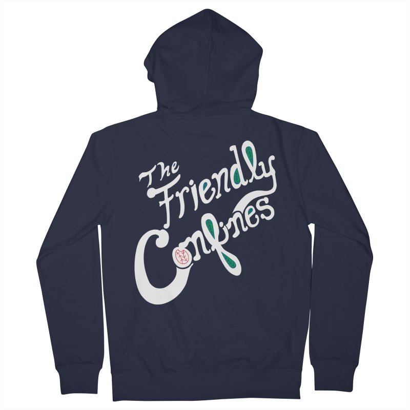 The Friendly Confines Men's French Terry Zip-Up Hoody by Lance Lionetti's Artist Shop