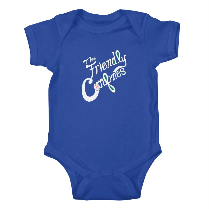 The Friendly Confines Kids Baby Bodysuit by Lance Lionetti's Artist Shop