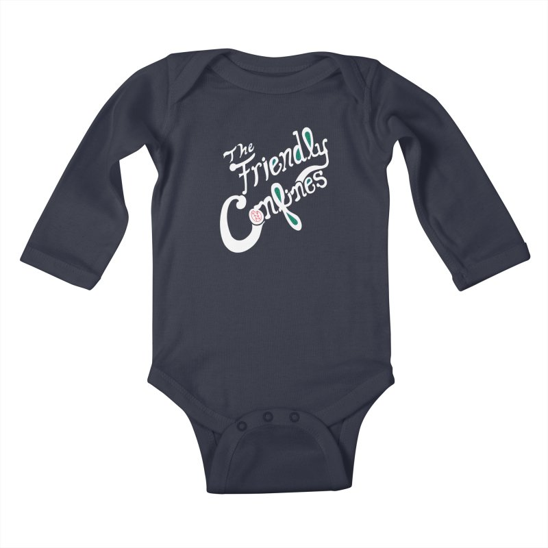 The Friendly Confines Kids Baby Longsleeve Bodysuit by Lance Lionetti's Artist Shop