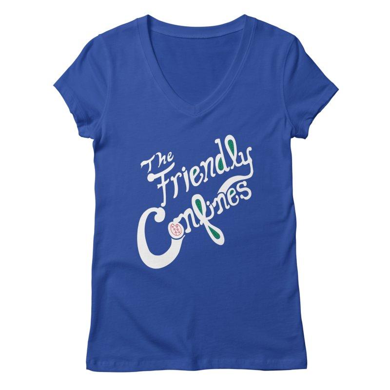 The Friendly Confines Women's V-Neck by Lance Lionetti's Artist Shop