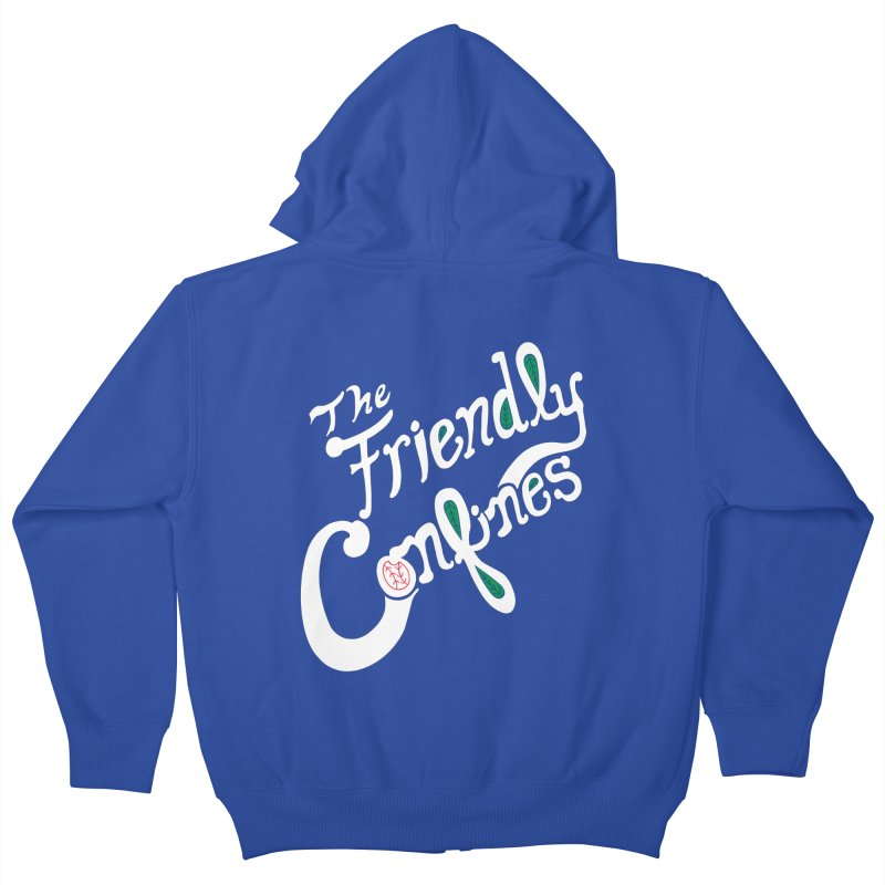 The Friendly Confines Kids Zip-Up Hoody by Lance Lionetti's Artist Shop
