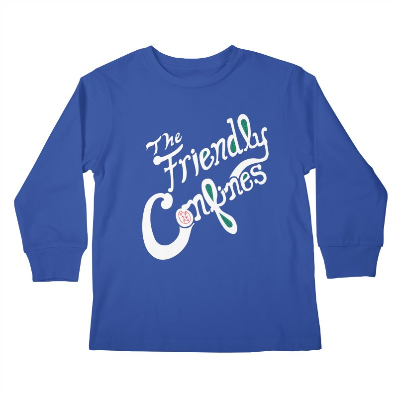The Friendly Confines Kids Longsleeve T-Shirt by Lance Lionetti's Artist Shop