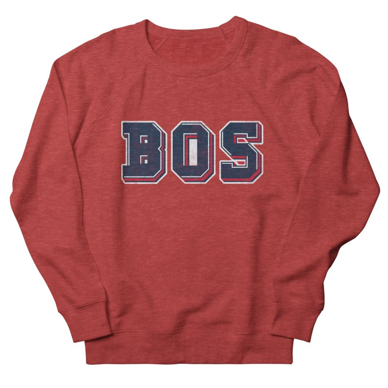 BOS- Red Women's French Terry Sweatshirt by Lance Lionetti's Artist Shop