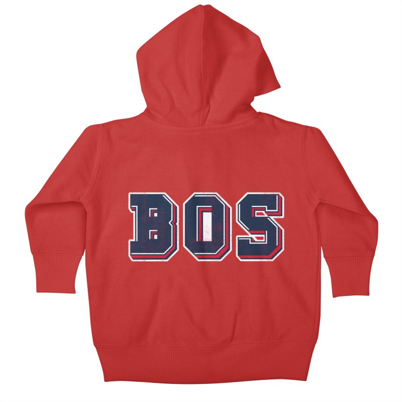 BOS- Red Kids Baby Zip-Up Hoody by Lance Lionetti's Artist Shop
