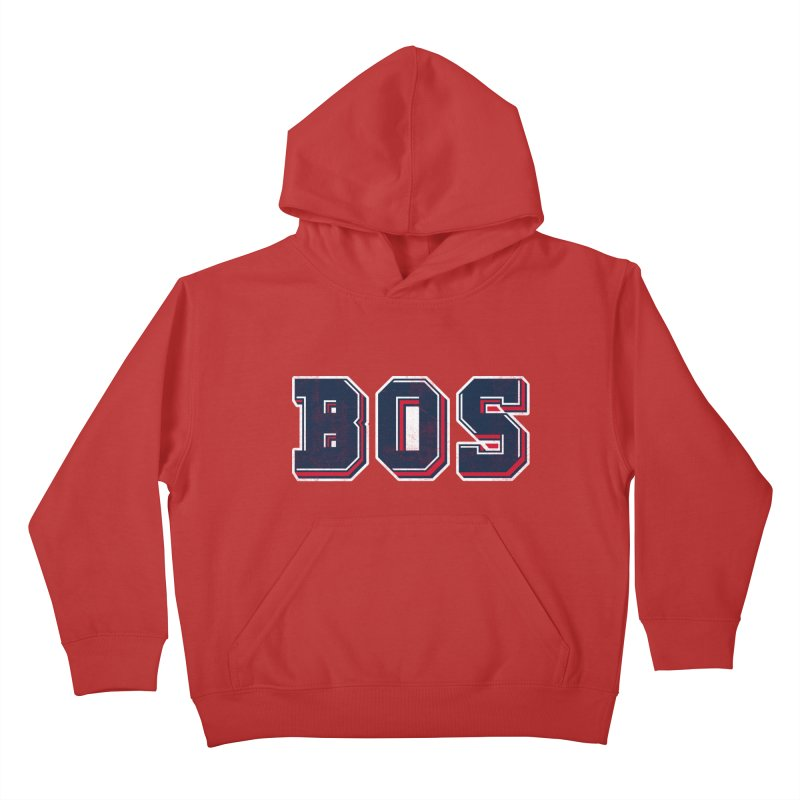 BOS- Red Kids Pullover Hoody by Lance Lionetti's Artist Shop