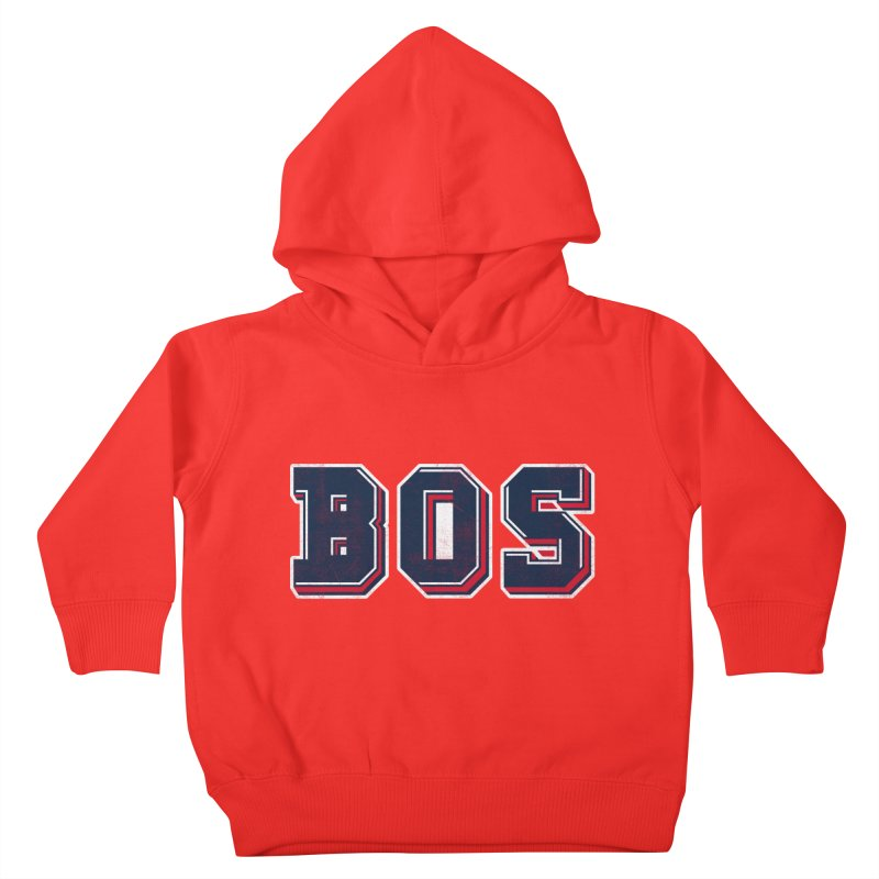 BOS- Red Kids Toddler Pullover Hoody by Lance Lionetti's Artist Shop