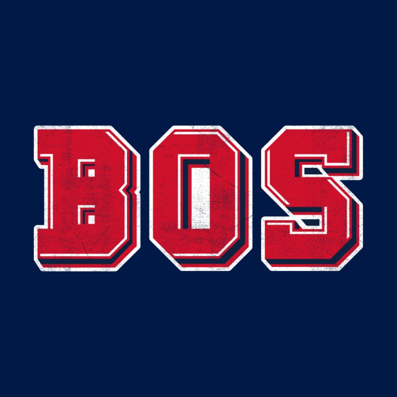 BOS- Navy Women's T-Shirt by Lance Lionetti's Artist Shop
