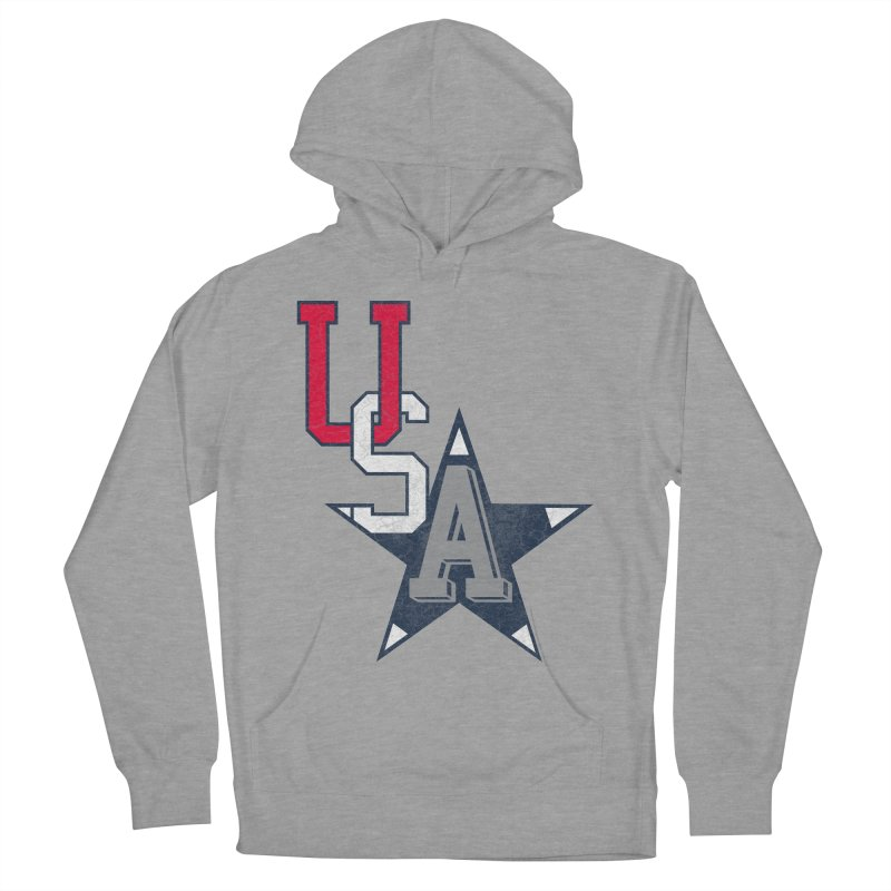 USA Star Men's Pullover Hoody by Lance Lionetti's Artist Shop