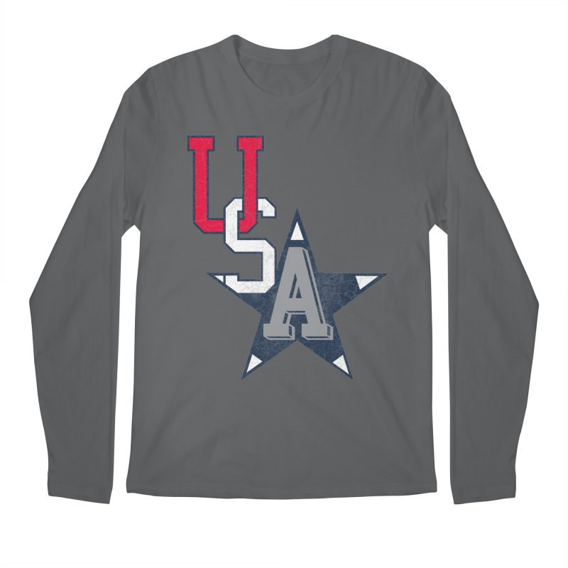 USA Star Men's Longsleeve T-Shirt by Lance Lionetti's Artist Shop