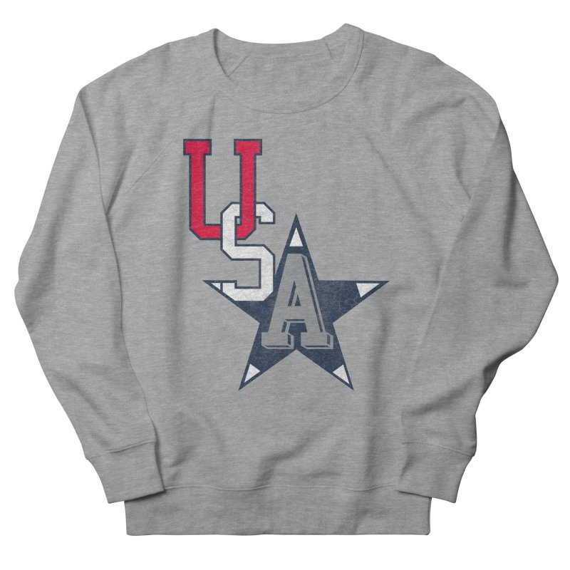 USA Star Men's French Terry Sweatshirt by Lance Lionetti's Artist Shop