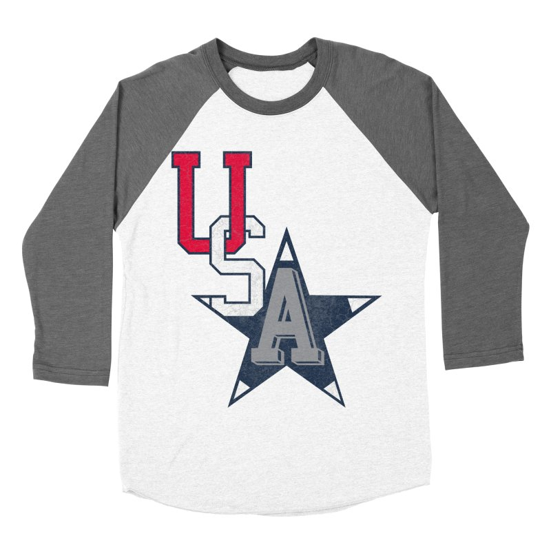 USA Star Men's Baseball Triblend T-Shirt by Lance Lionetti's Artist Shop