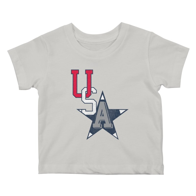 USA Star Kids Baby T-Shirt by Lance Lionetti's Artist Shop