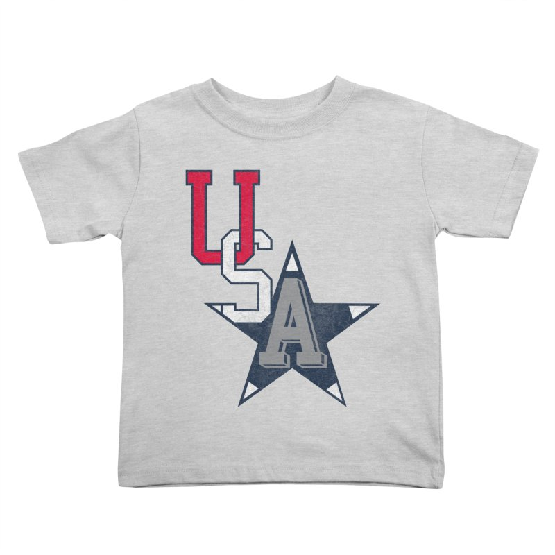 USA Star Kids Toddler T-Shirt by Lance Lionetti's Artist Shop