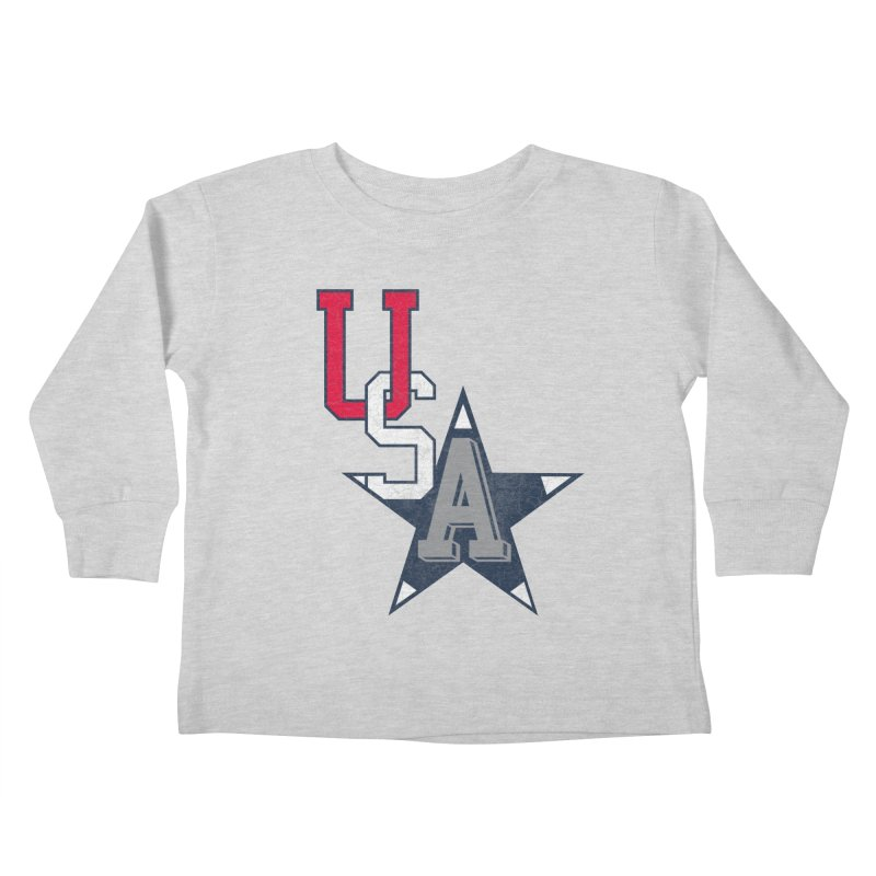 USA Star Kids Toddler Longsleeve T-Shirt by Lance Lionetti's Artist Shop